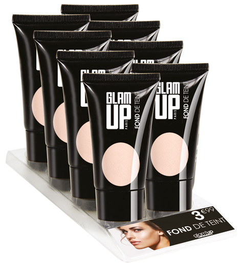 display fond de teint Glam'Up