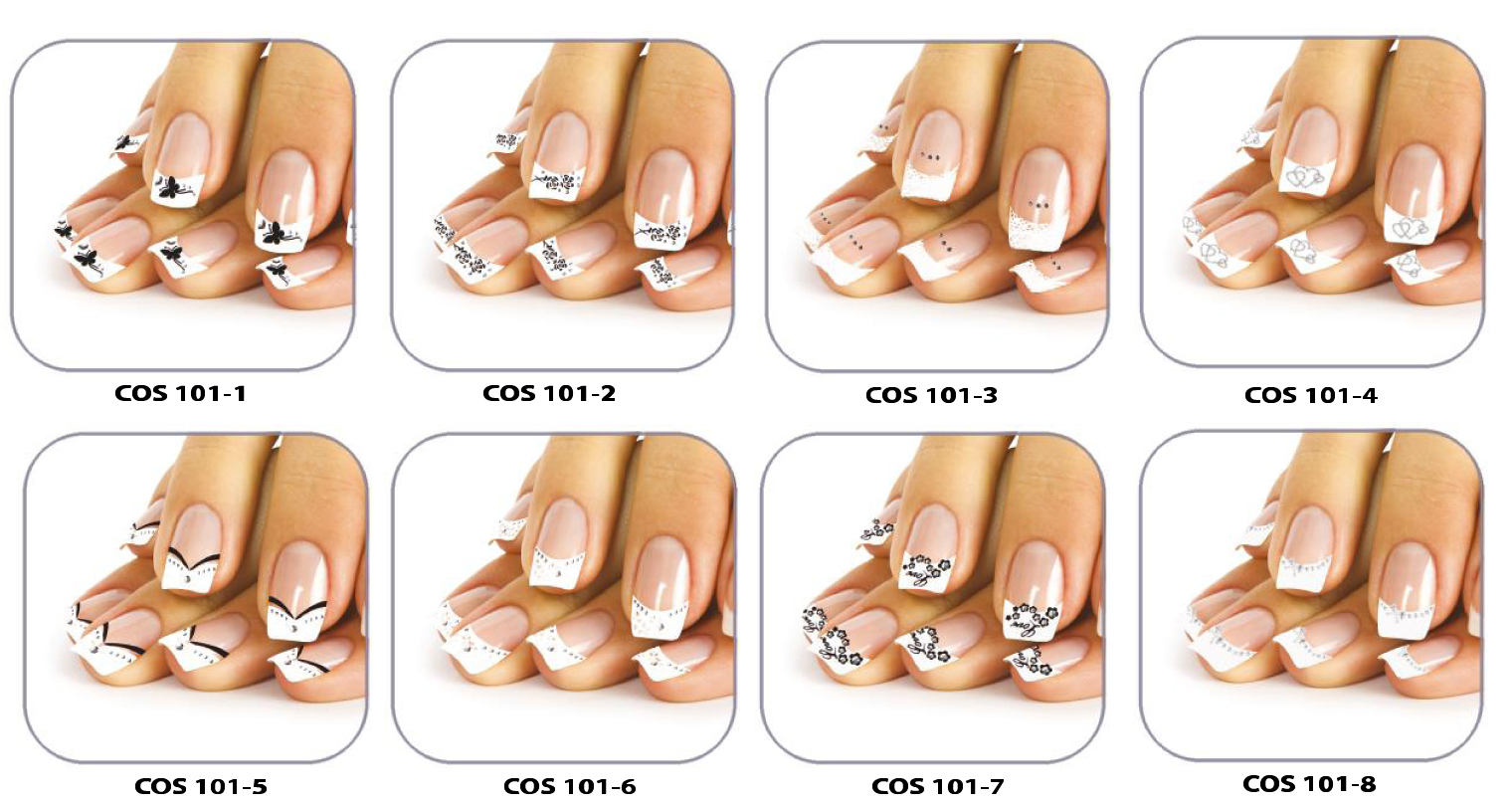 Fabuleux Stickers nail art pour french manicure BY37